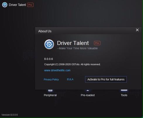 Download driver talent 8.0 full crack
